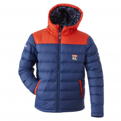Men's blue and red cuddly jacket