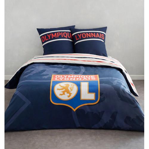 Parure de lit bleue marine 2 places - Taille - Unique