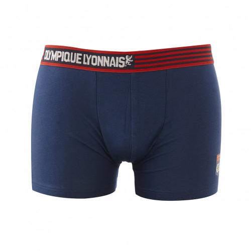 Boxer Olympique Lyonnais bleu et rouge JR - Taille - 14-16A