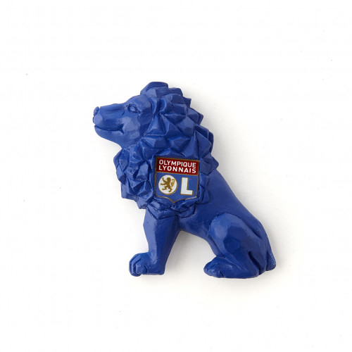 Magnet lion bleu