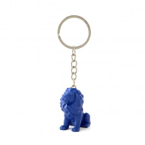Porte-clés lion bleu