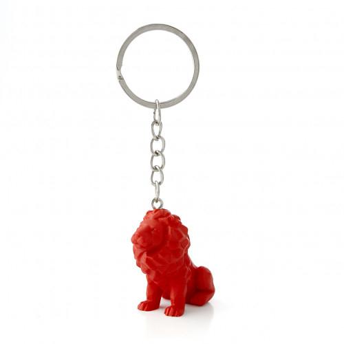 Porte-clés lion rouge