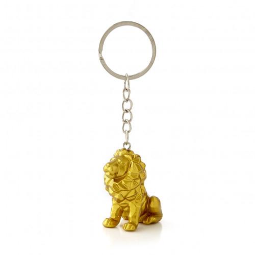 Porte-clés lion or
