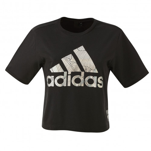 T-shirt badge of sport noir femme adidas - Taille - S