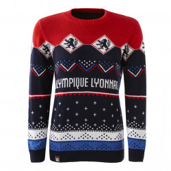 Women's Olympique Lyonnais Christmas Sweater