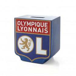 Piggy bank with the Olympique Lyonnais logo