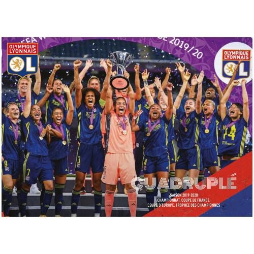 Poster OL équipe féminine quadruplé 19/20 - Taille - Unique