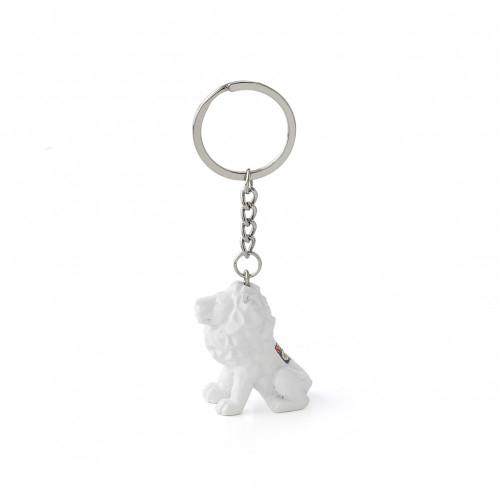 Porte-clés lion blanc