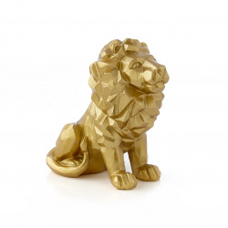 Statue Lion Gold 16CM Gold