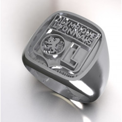 Silver relief signet ring OL
