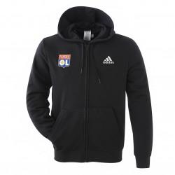 Men's black hooded jacket