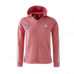 Veste à capuche rose fille