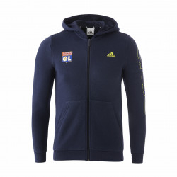 Junior blue hooded jacket