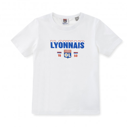 T-shirt blanc Lion OL junior