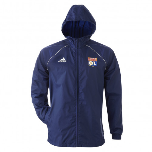Veste de pluie CORE bleu marine joueur junior PRO adidas 19-20 - Taille - 9-10A