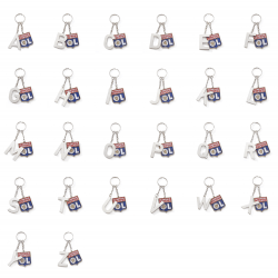 Keychain Letter & Blazon OL