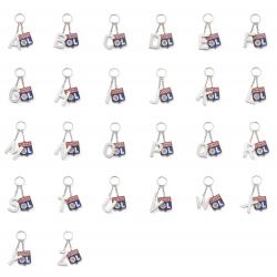 Porte-clés lettre et blason OL
