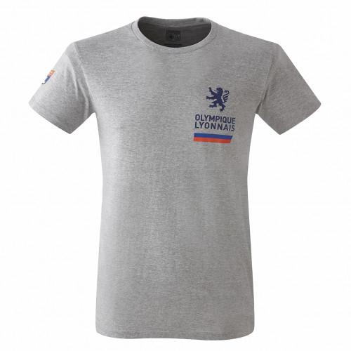 T-shirt gris chiné Adulte - Taille - 2XL
