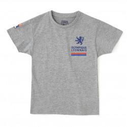 Mottled gray raglan T-shirt Junior