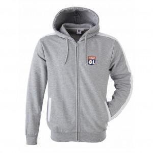 Men Grey Core Hooded Jacket