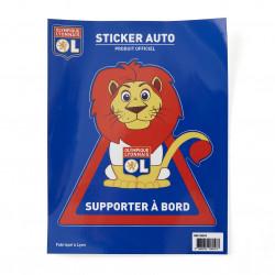 Sticker Autocollant Supporter à Bord