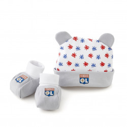Baby Boy Slippers and Beanie Kit
