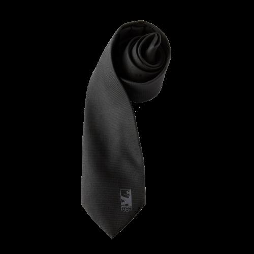 Cravate noire 100% soie 1950 - Taille - Unique