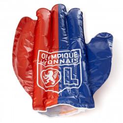 Main gonflable OL rouge et bleu