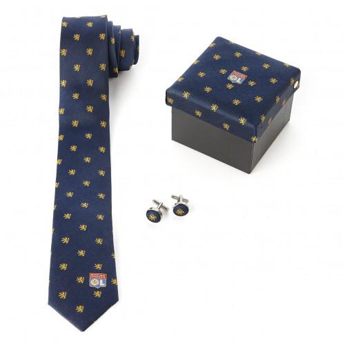 Coffret Cravate + Boutons Manchettes OL